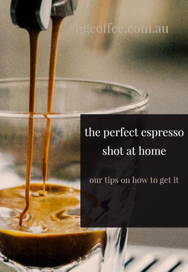 perfect espresso shot